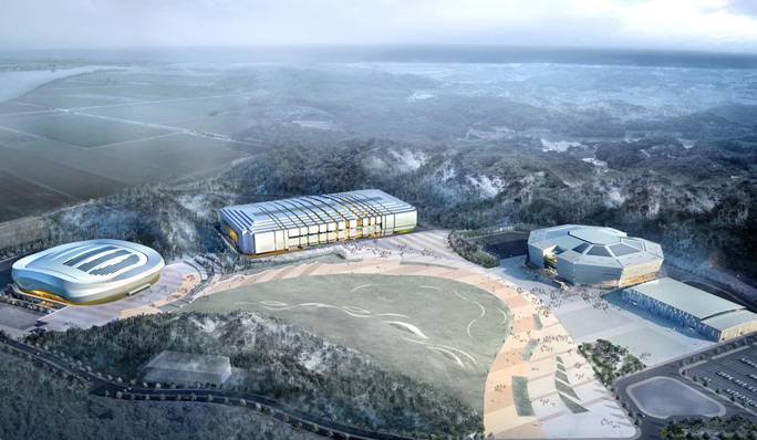 Gangneung Ice Arena - artist impression #1