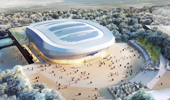 Gangneung Ice Arena - artist impression #2
